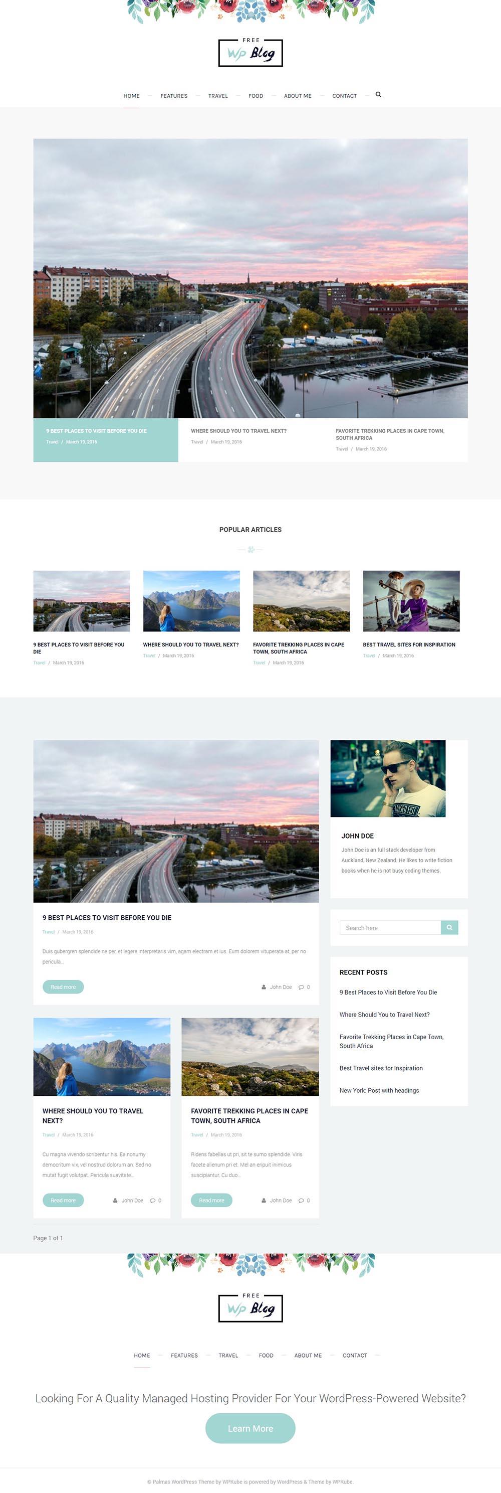 5 najlepszych darmowych motywów WordPress Palmas