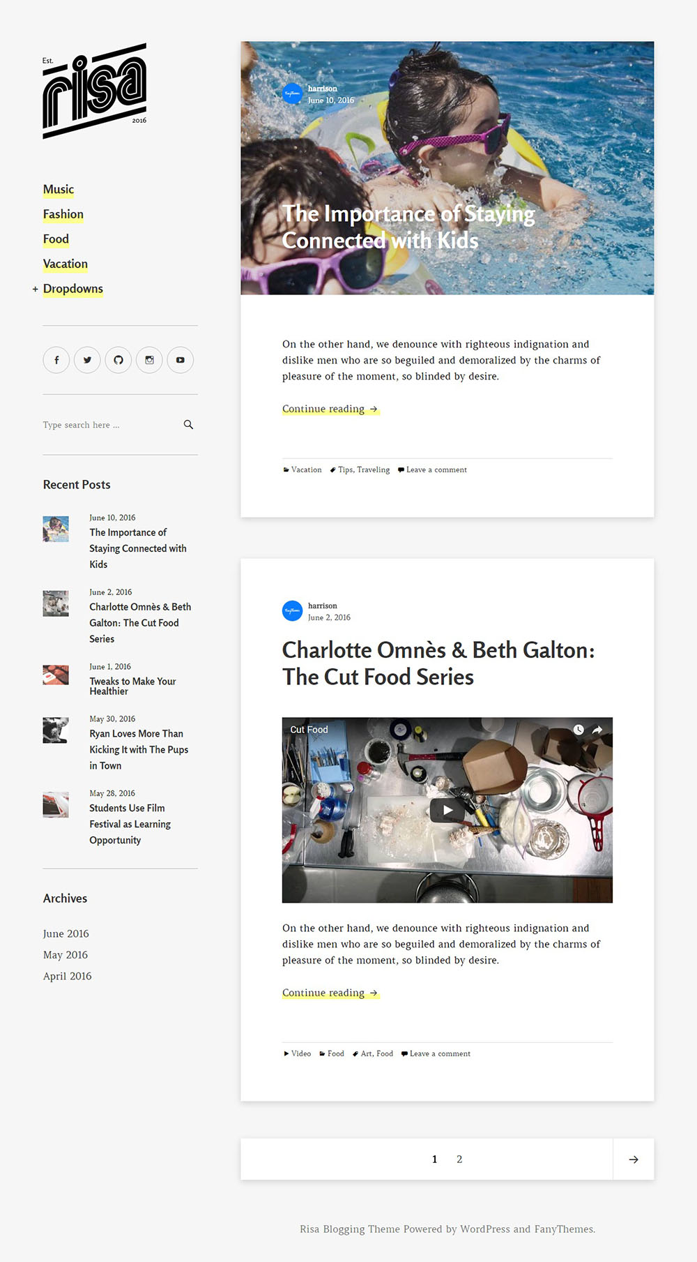 5 najlepszych darmowych motywów WordPress Risa
