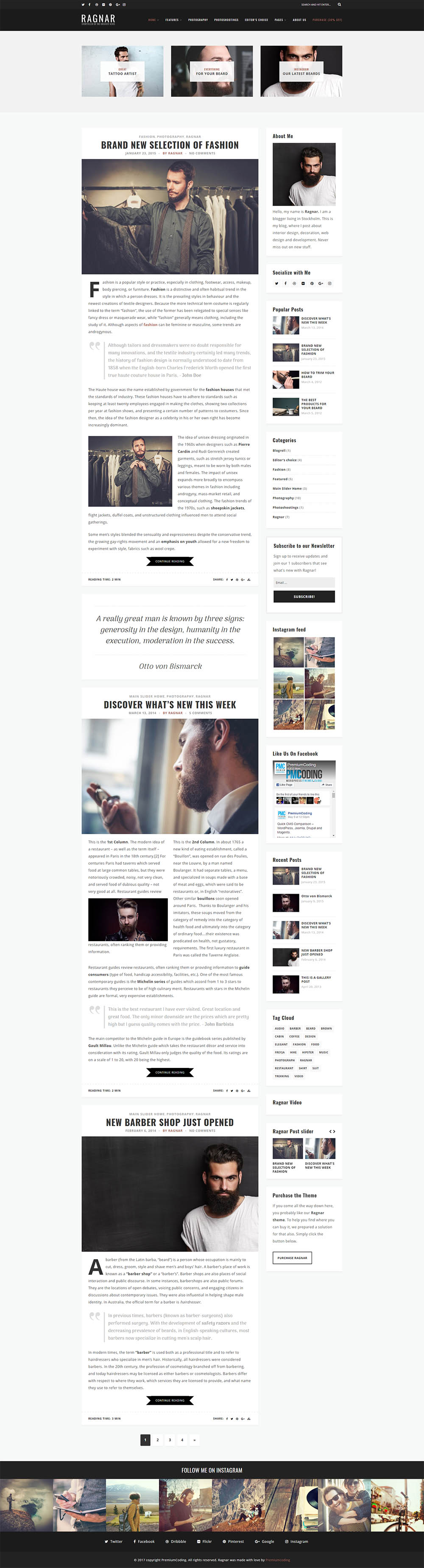 ragnar-wordpress-blog-theme