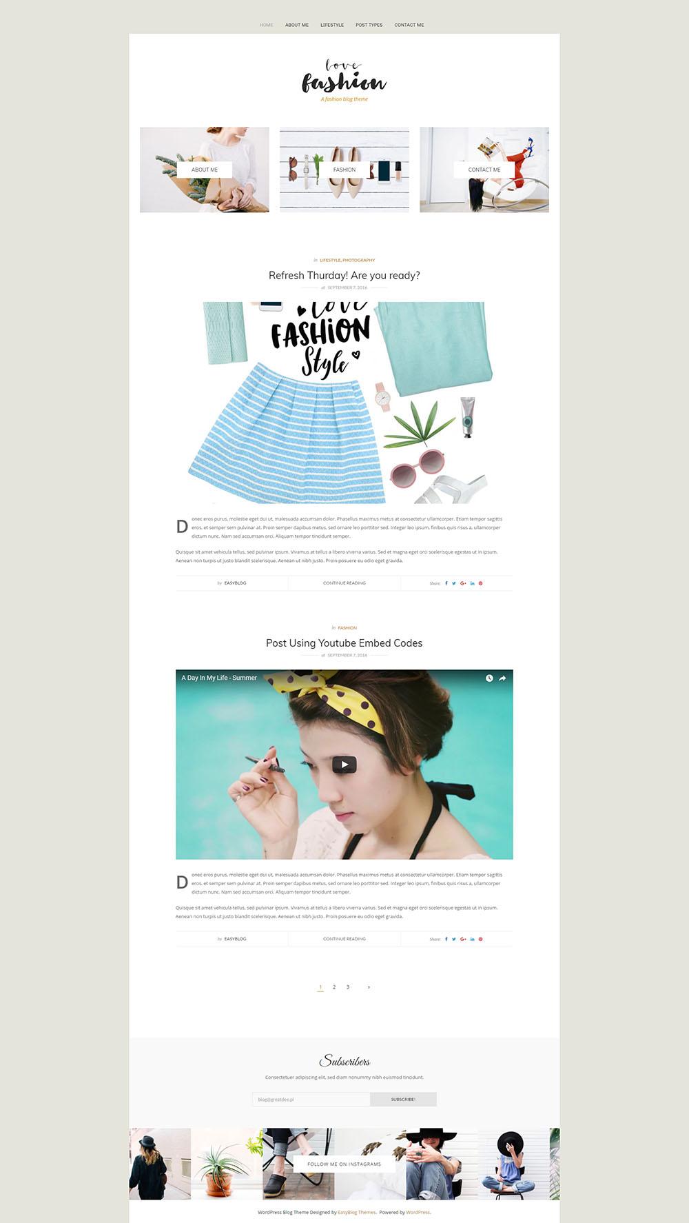 KOBIECE motywy na WordPressa fashion love