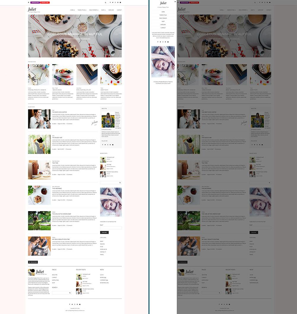 KOBIECE motywy na WordPressa juliet
