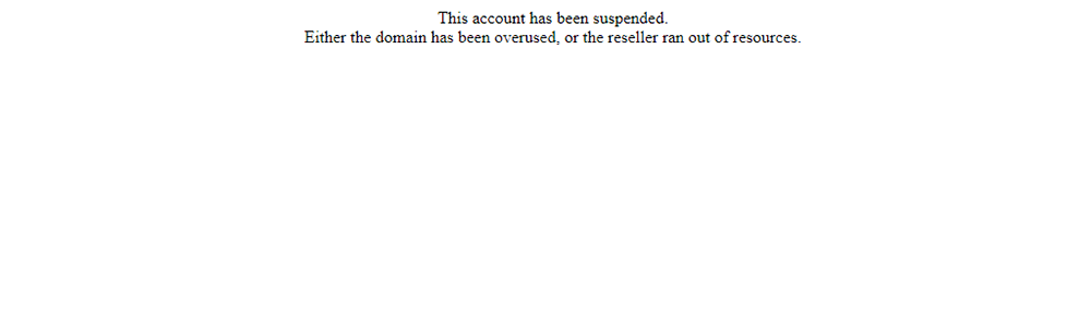 Suspended Domain error