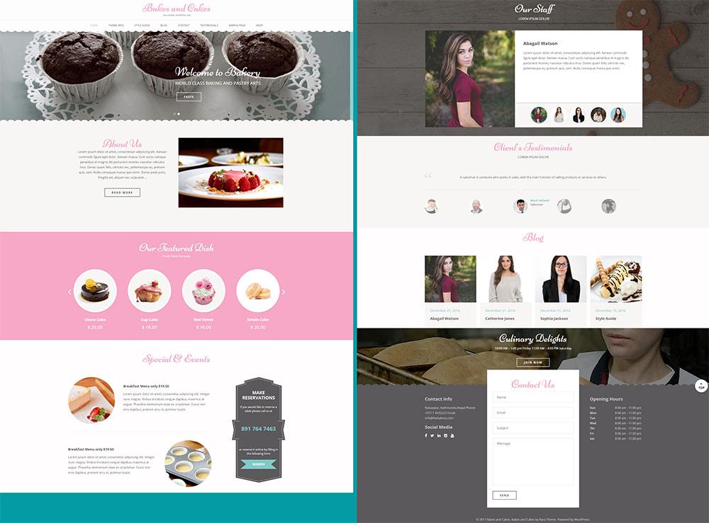 MOTYWARKA 5 ciekawych kulinarnych darmowych motywow WordPress Bakes and cakes