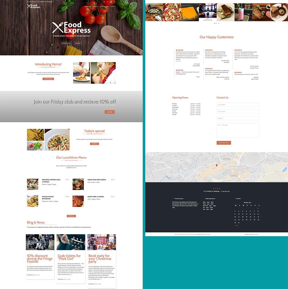 MOTYWARKA 5 ciekawych kulinarnych darmowych motywow WordPress Food Express