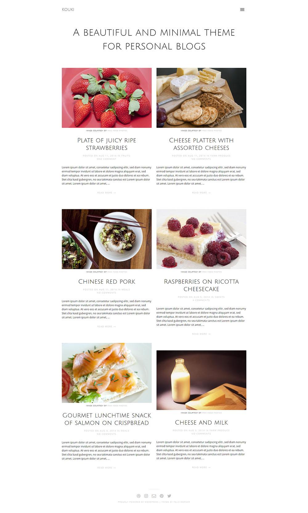 MOTYWARKA 5 ciekawych kulinarnych darmowych motywow WordPress Kouki
