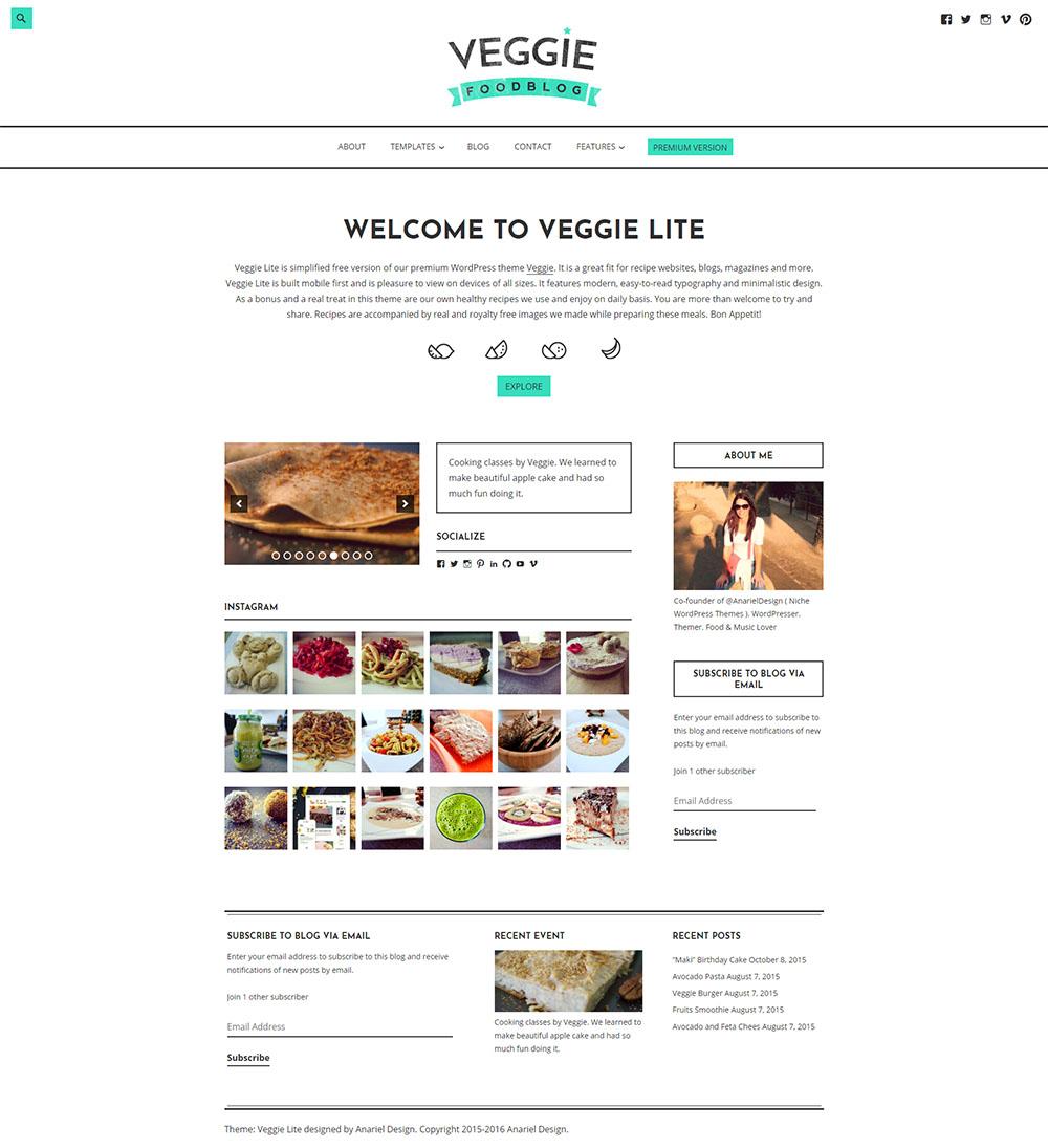 MOTYWARKA 5 ciekawych kulinarnych darmowych motywow WordPress Veggie