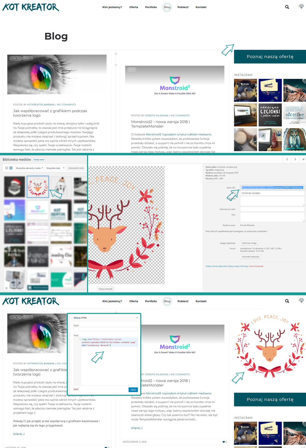 WordPress jak dodać obrazek html